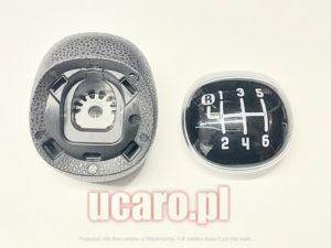 Gałka rękojeść lewarka zmiany biegów 6-biegowa komplet Fiat 500L od 2012 roku oryginał 50293969.